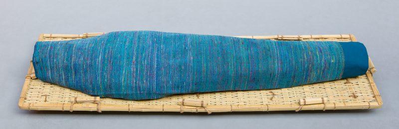 Lijkwade Sari aqua blauw