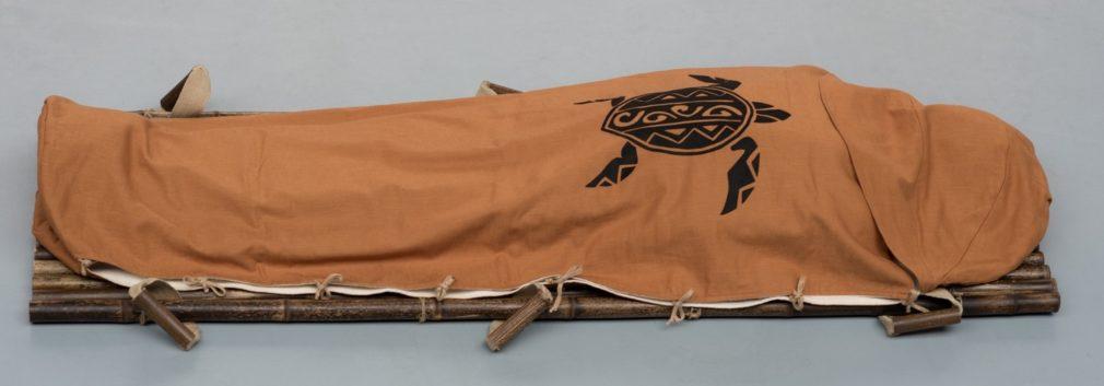 Cocon wade Atelier Alewijn Cognac linnen voering flanel met tortuga van vilt