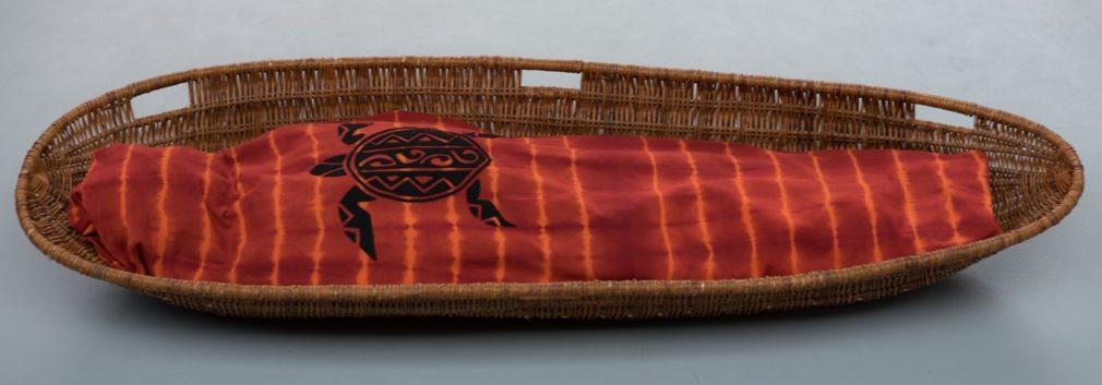 Wade Atelier Alewijn van handgeweven en handgeverfde stof uit Nepal met tortuga van vilt