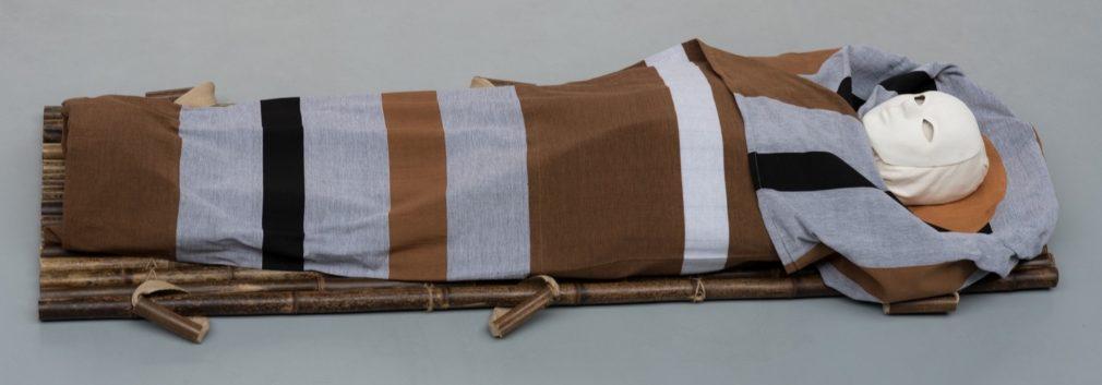 Wade Atelier Alewijn van handgeweven stof uit Sri Lanka Streep zwart-wit-grijs-bruin